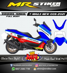 Stiker motor decal Yamaha NMAX New 2020 Pertamina Mandalika SAG Team (FULLBODY)