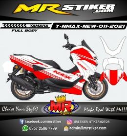 Stiker motor decal Yamaha NMAX New 2020 Red Strip Line (FULLBODY)