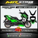 Stiker motor decal Yamaha NMAX New 2020 Black Green Light Grafis (FULLBODY)