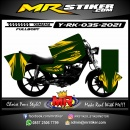 Stiker motor decal Yamaha RX KING Green Gold Grafis Line Race (FULLBODY)