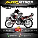 Stiker motor decal Yamaha Scorpio Z Winged Skull King (FULLBODY)