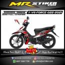 Stiker motor decal Yamaha Vega Force Red Grafis Tech Line Sport Silver