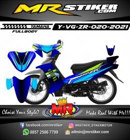 Stiker motor decal Yamaha Vega ZR DarkBlue Grafis Line Race Fullbody