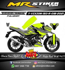 Stiker motor decal Yamaha Vixion R Line Gray Stabillo Grafis Fullbody