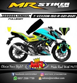 Stiker motor decal Yamaha Vixion R Tosca Grafis Yellow Road Sporty Fullbody