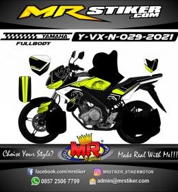 Stiker motor decal Yamaha Vixion New Circle Tech Racing Grafis Stabillo Fullbody