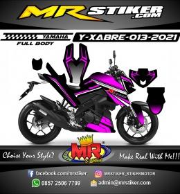 Stiker motor decal Yamaha XABRE Black Magenta Grafis Sporty Fullbody