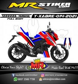 Stiker motor decal Yamaha XABRE Red Blue Street Grafis Line Fullbody