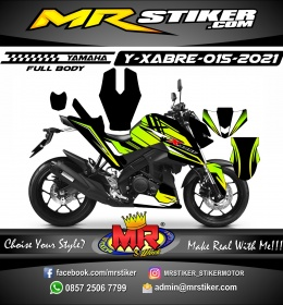Stiker motor decal Yamaha XABRE Grafis Green Lime Fullbody
