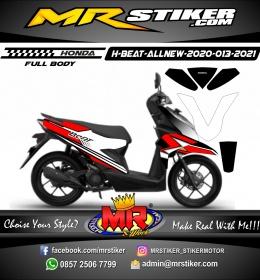 Stiker motor decal Honda Beat AllNew 2020 Grafis Red Street Racing