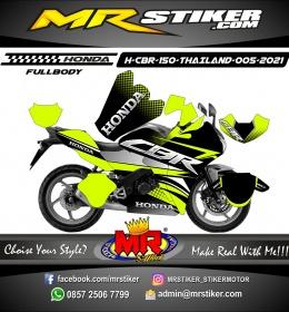Stiker motor decal Honda CBR 150 THAILAND Race Flag Grafis Lime Stabillo Color FULLBODY