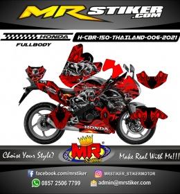 Stiker motor decal Honda CBR 150 THAILAND Bloods Venom Zombie FULLBODY