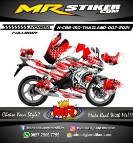 Stiker motor decal Honda CBR 150 THAILAND Hungry Wolf Splater FULLBODY