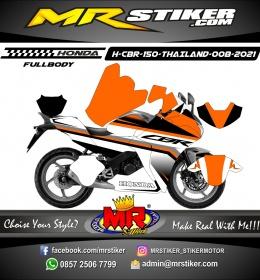Stiker motor decal Honda CBR 150 THAILAND Orange Grafis Race Sporty FULLBODY