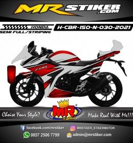 Stiker motor decal Honda CBR 150 New Maroon Sharp Line graphic