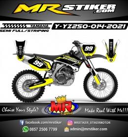 Stiker motor decal Yamaha YZ 250 Grafis Yellow Track Race