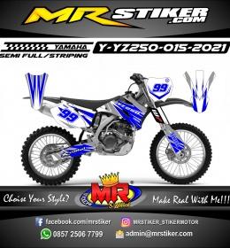 Stiker motor decal Yamaha YZ 250 Line Blue Gastrack
