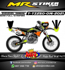 Stiker motor decal Yamaha YZ 250 Different Stabilo Color Graphics