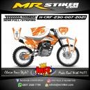 Stiker motor decal Honda CRF 230 Street Line Orange