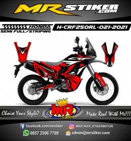 Stiker motor decal Honda CRF 250 Rally Red Grafis Line Extreme Track SuperMoto