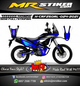 Stiker motor decal Honda CRF 250 Rally Blue Grafis Emblem Honda Super Track