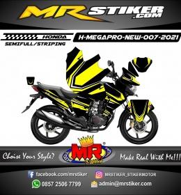 Stiker motor decal Honda Megapro New Yellow Line