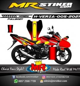 Stiker motor decal Honda Verza Fullbody Grafis Red Yellow Line Graphic Racing