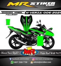 Stiker motor decal Honda Verza Fullbody Green Dark Silver Mate Grafis
