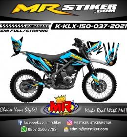 Stiker motor decal Kawasaki KLX 150 Blue Line Road Track Race