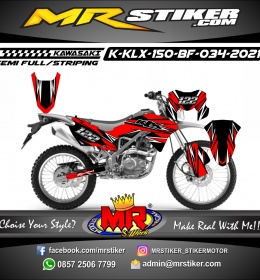 Stiker motor decal Kawasaki KLX 150 BF Red Street Track Line Grafis
