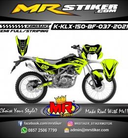 Stiker motor decal Kawasaki KLX 150 BF Yellow Stabillo Astars Fox