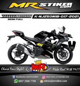 Stiker motor decal Kawasaki Ninja 250 AllNew 2018 Black Monster Energy Movistar Grafis