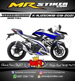Stiker motor decal Kawasaki Ninja 250 AllNew 2018 Blue Line Grafis Sporty Line Race