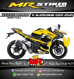 Stiker motor decal Kawasaki Ninja 250 AllNew 2018 Sport Motor Yellow Street Line