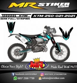 Stiker motor decal KTM 250 Line Supertrack Blue Neon