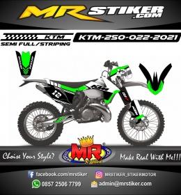Stiker motor decal KTM 250 Green grafis