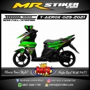 Stiker motor decal Yamaha Aerox Green Black Gradation Line Golden
